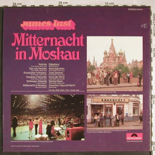 Last,James: Mitternacht in Moskau, Club Sondera, Polydor(61 614), D, 1972 - LP - H8044 - 6,00 Euro