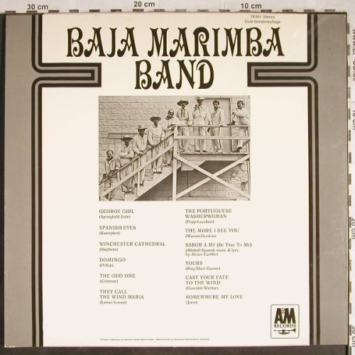 Baja Marimba Band: Same, Club-Sonderauflage, AM(78 551), D, 1967 - LP - H8050 - 9,00 Euro