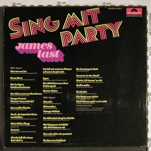 Last,James: Sing Mit Party, Club-Sonderauflage, Polydor(65 255 2), D, 1976 - LP - H8056 - 5,00 Euro