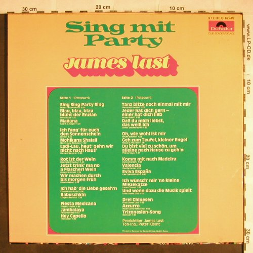 Last,James: Sing Mit Party, Club-Sonderauflage, Polydor(62 449), D, 1973 - LP - H8063 - 5,50 Euro