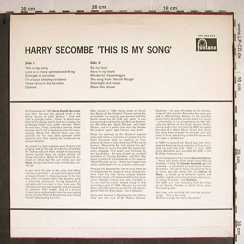 Secombe,Harry: This Is My Song, Fontana(FPY 858 014), NL, Ri, 1967 - LP - H8601 - 7,50 Euro