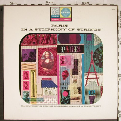 Symphonie of Strings Orchestra: Paris in a...,cond.James Verity, Venice / PAN AM(7007), US,vg+/m-,  - LP - H8628 - 6,00 Euro