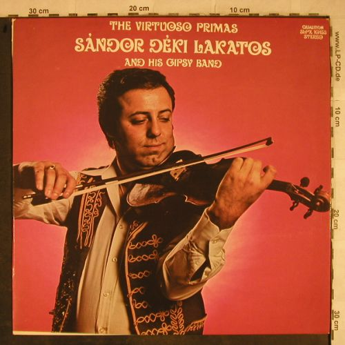 Lakatos,Sandor Deki  & his Gipsy B.: The Virtuoso Primas, Qualiton(SLPX 10153), H, 1975 - LP - H9505 - 6,00 Euro