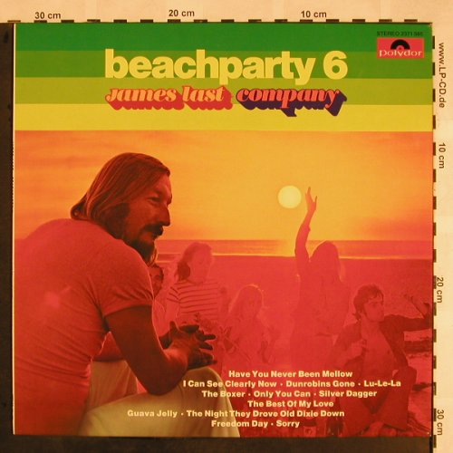 Last,James: Beachparty 6, Polydor(2371 585), D, 1975 - LP - X1127 - 6,00 Euro