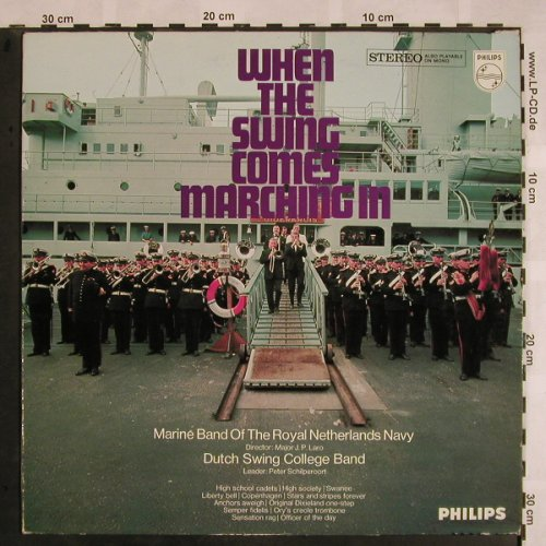 Marine B.o.t. Royal NetherlandsNavy: When the Swing..Dutch Swing Coll., Philips(844 063 PY), NL, 1968 - LP - X1142 - 7,50 Euro