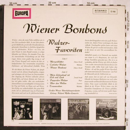 Müller-Lampertz,Richard: Wiener Bonbons - Walzer Favoriten, Europa(E 198), D,  - LP - X1283 - 5,00 Euro