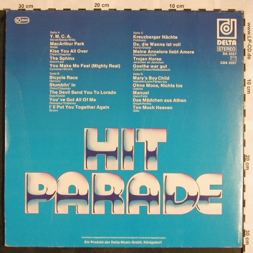 V.A.Hit Parade Vocal: Y.M.C.A... Too Much Heaven,non-stop, Delta(DA 2057), D,  - 2LP - X1394 - 6,00 Euro