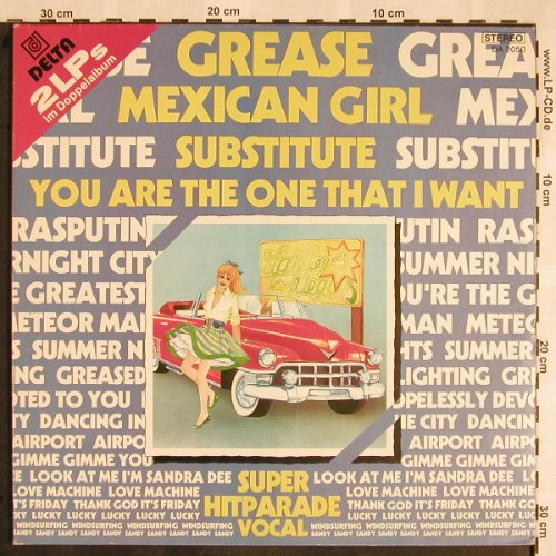 V.A.Superhits - Vocal: Grease...Sandy, Foc, Delta(DA 2050), D,  - 2LP - X1395 - 6,00 Euro