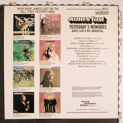 Last,James: Yesterday's Memories, Contour(2870 117), UK, Ri, 1966 - LP - X1409 - 7,50 Euro