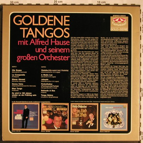 Hause,Alfred & großen Orchester: Goldene Tangos mit, Karussell(535 011), D, 1966 - LP - X1524 - 5,00 Euro