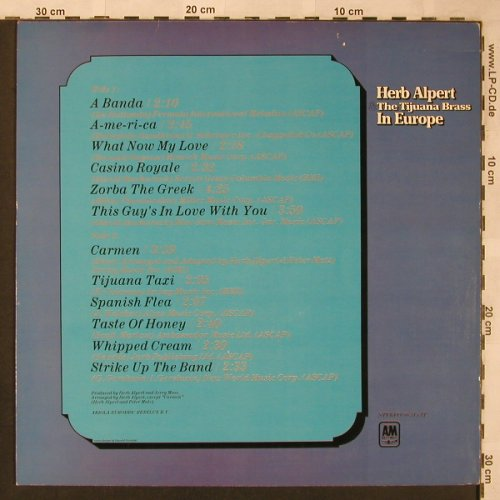 Alpert,Herb & Tijuana Brass: In Europe, AM(88 315 IT), NL,  - LP - X2008 - 7,50 Euro
