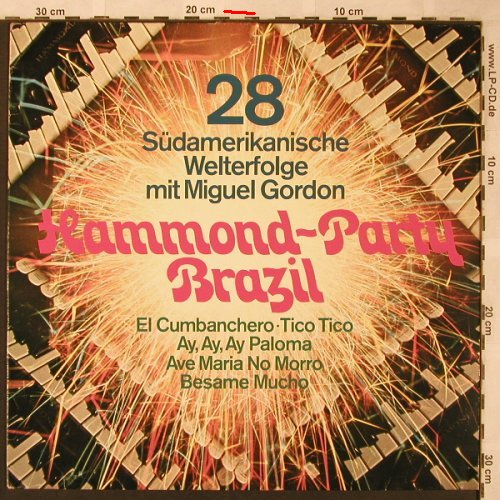 Gordon,Miguel: Hammond-Party Brazil, EBG(63 181), D, m-/vg+, 1975 - LP - X2009 - 5,00 Euro