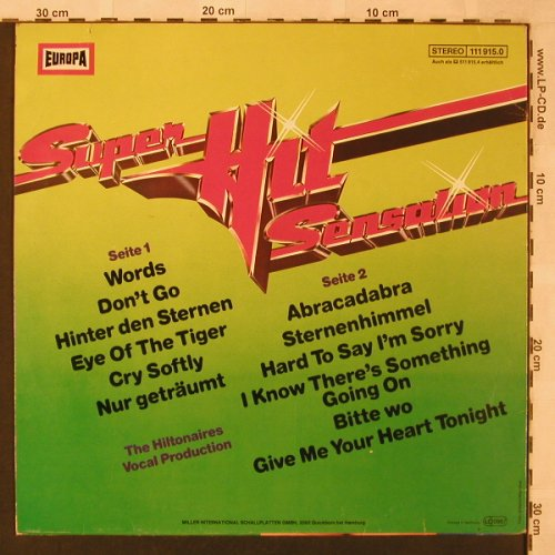 Hiltonaires: Super Hit Sensation(4)vocal Prod., Europa(111 915.0), D,  - LP - X2441 - 4,00 Euro