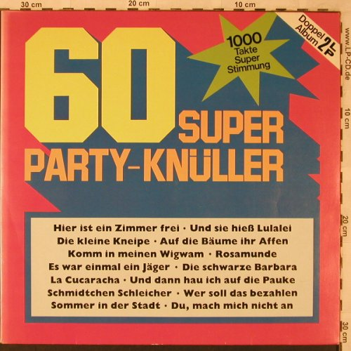 V.A.60 Super Party-Knüller: Jupp Schmitz,Muys,James Best..., Delta(DA 2001), D, Foc,  - 2LP - X2499 - 5,50 Euro