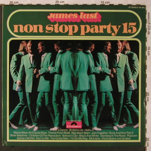 Last,James: Non Stop Party 15, Club Edition, Polydor(SFGLP 78 245), D, 1972 - LP - X2712 - 7,50 Euro