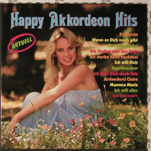 V.A.Happy Akkordeon Hits: Rücksicht..Beat it ,instr.Coververs, Capriole(46 562 5), D, 1983 - LP - X2745 - 4,00 Euro