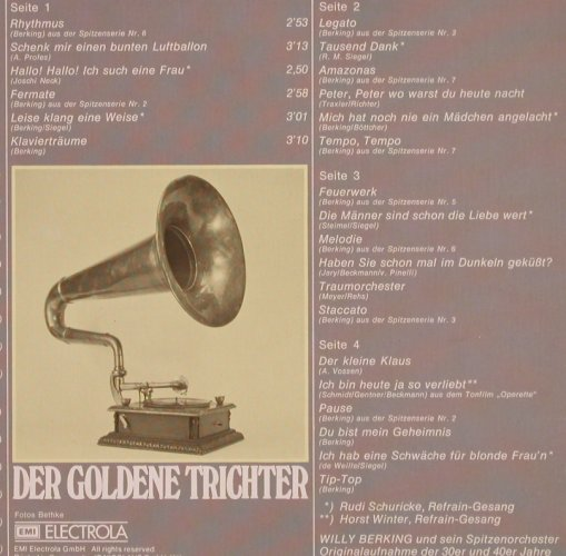 Berking,Willy - Orchester: Swing Souvenirs,orign. 30ger,40ger, Odeon(C 148-31 304/05), D, Foc,  - 2LP - X3122 - 7,50 Euro