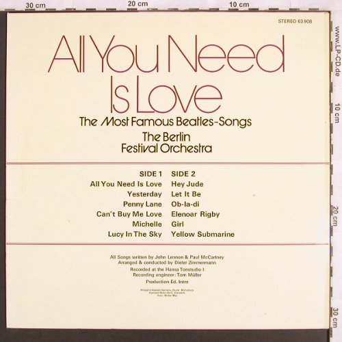 Berlin Festival Orchestra: All you need is love..Beatles Songs, S*R Int.(63 908), D,  - LP - X3153 - 7,50 Euro