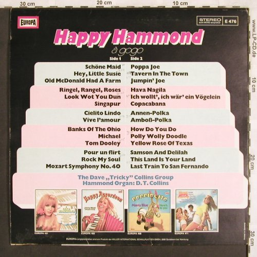 Dave Tricky Collins Group: Happy Hammond, Europa(E 476), D, 1976 - LP - X3231 - 5,00 Euro