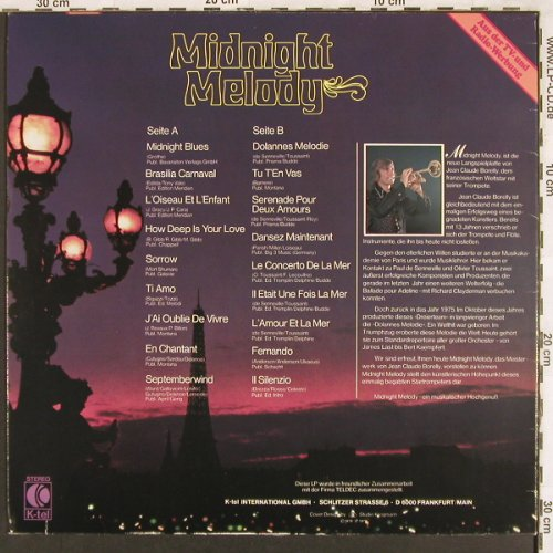 Borelly,Jean-Claude: Midnight Melody, K-tel(TG 123), D, 1979 - LP - X3407 - 4,00 Euro