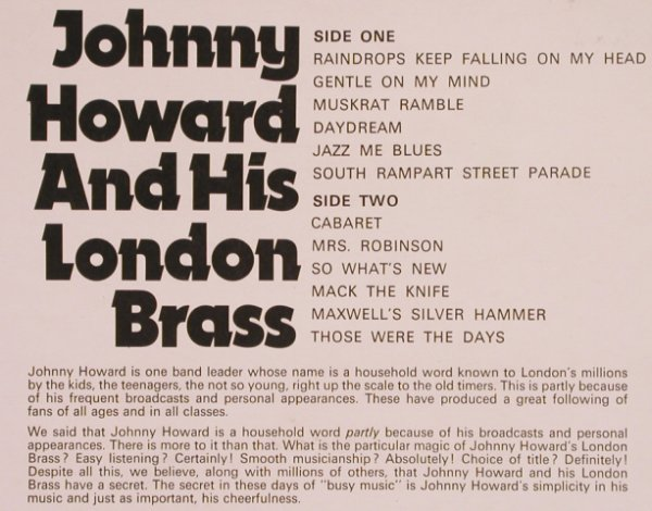 Howard,Johnny & his London Brass: Same, Turnover Rec.(TUR 204), UK,  - LP - X3713 - 7,50 Euro