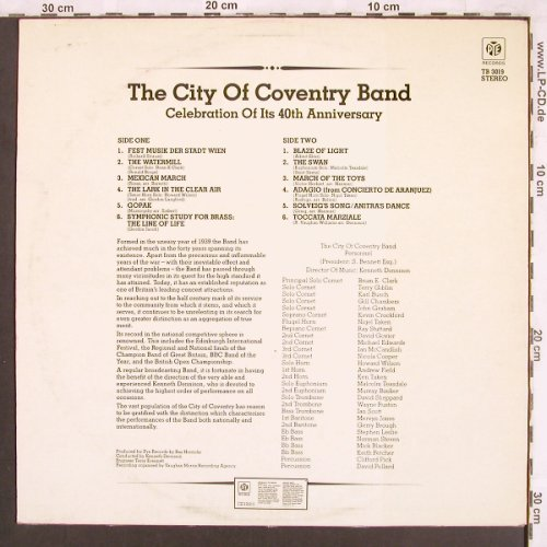 City of Coventry Band: Ina Celebr.of its 40th Anniversary, PYE(TB 3019), UK,  - LP - X3718 - 7,50 Euro