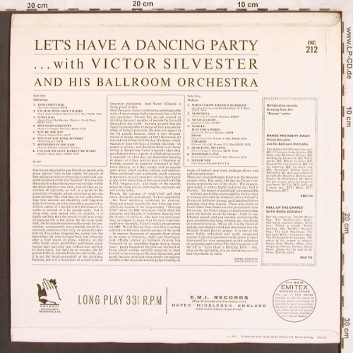 Silvester,Victor & h.Ballroom Orch.: Let's have a Dancing Party, Mono, Encore EMI(ENC 212), UK, 1969 - LP - X3725 - 9,00 Euro