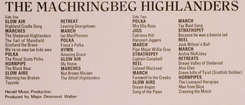 Machringbeg Highlanders: Pipes & Drums, Contour(2870 193), UK, 1972 - LP - X3842 - 5,50 Euro