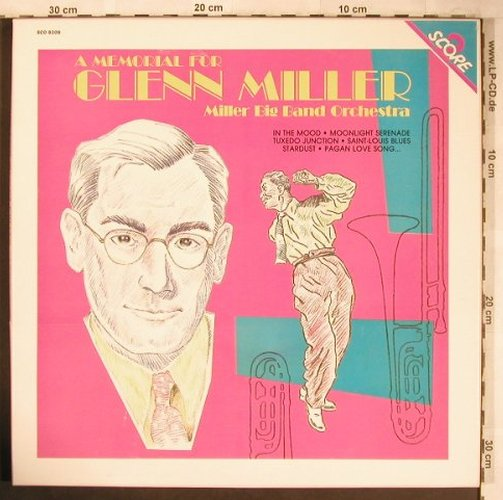 Miller Big Band Orchester: A Memorial for Glenn Miller, Box, Score(SCO 8208/MU 524), F, 1984 - 2LP - X4978 - 7,50 Euro