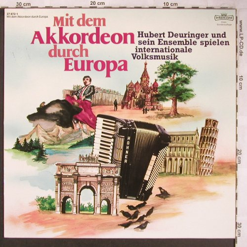 Deuringer,Hubert u.s.Ensemble: Mit dem Akkordeon durch Europa, Intercord(27 872-1), D, 1979 - LP - X5031 - 5,50 Euro