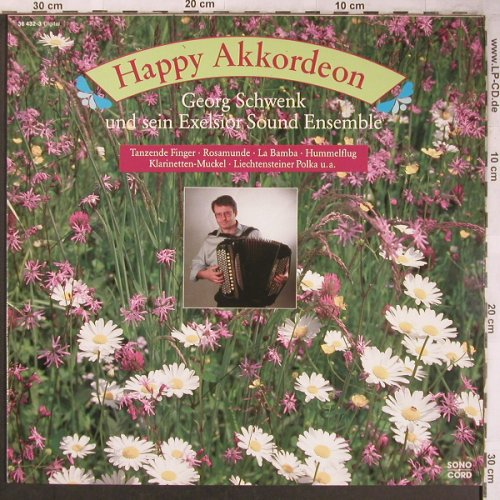 Schwenk,Georg  & s.Exelsior S.Ensb.: Happy Akkordeon, Sonocord(36 432-3), D, 1990 - LP - X5033 - 7,50 Euro