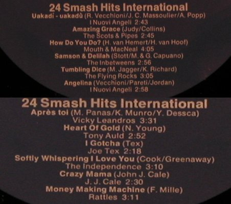 V.A.24 Smash Hits International: Cardinal Point...Rattles, Foc, Philips,DruckH.O.Persihl(6499 150/151), D,  - 2LP - X5051 - 6,00 Euro