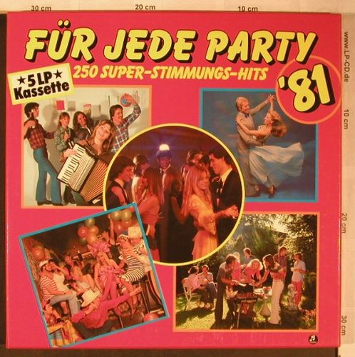 V.A.Für Jede Party'81: 250 Super-Stimmungs-Hits, Box, Columbia(198-46 215/219), D, 1980 - 5LP - X5192 - 9,00 Euro