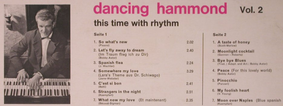 Astor,Bobby: Dancing Hammond Vol.2 with rhythm, Elite Special(PAS 5), CH,vg+/m-,  - LP - X5218 - 6,00 Euro