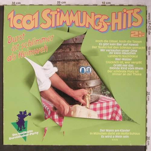 Parkas,Tommy-Orch. & Happy Singers: 1001 Stimmungs-Hits,Durst i.schlimm, S*R(42 912 6), D, 1985 - 2LP - X5362 - 5,00 Euro