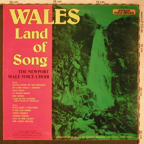Newport Male Voice Choir: Wales - Land of Songs, VG+/m-, Stereo Gold Award(MER 389), UK,  - LP - X5504 - 5,00 Euro