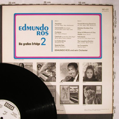 Ros,Edmundo: Die Grossen Erfolge 2,Musterplatte, Decca , bad condition(ND 622), D, vg-/m-,  - LP - X5555 - 5,00 Euro