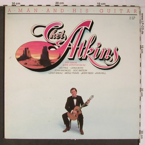 Atkins,Chet: A Man and his Guitar, Foc, m-/vg+, RCA(NL89160(2)), D, 1984 - 2LP - X6639 - 9,00 Euro