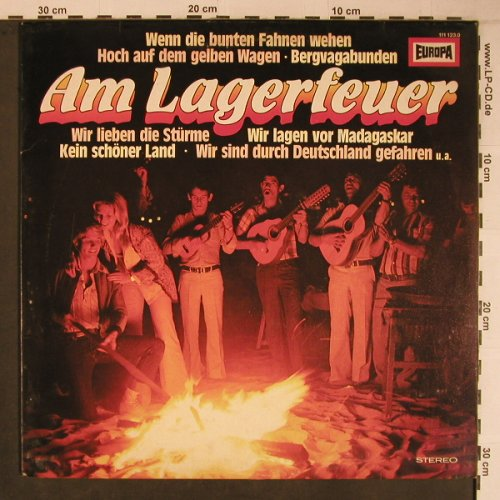 V.A.Am Lagerfeuer: Ina Bergner,FredHaider,Condor, Europa(111 123.0), D, m-/vg+, 1979 - LP - X6727 - 5,00 Euro