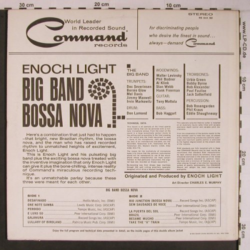 Light,Enoch: Big Band Bossa Nova, (1962), Command(RS 844 SD), US, Ri, 1972 - LP - X6782 - 12,50 Euro