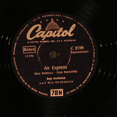 Anthony,Ray  and his Orch.: Sign Post / Air Express, Capitol(C 2728), D, VG+,  - 25cm - N248 - 4,00 Euro
