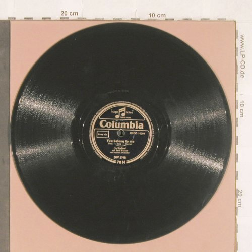 Stafford,Joe with Paul Weston: You belong to me/Jambalaya, Columbia(DW 5198), D,  - 25cm - N321 - 7,50 Euro