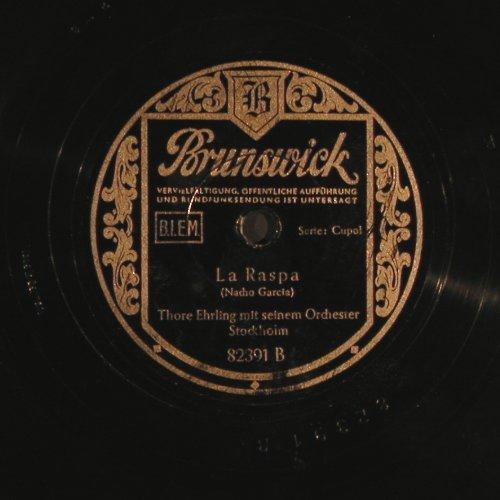Ehrling,Thore  m.s.Orchester: I wanna be a friend of yours, Brunswick(82 391), D,  - 25cm - N400 - 6,00 Euro