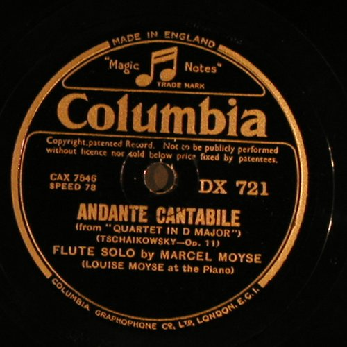 Tschaikowsky,Peter/Paul Wetzger: Andante Cantabile,op11/AmWaldesbach, Columbia(DX 721), UK,  - 30cm - N170 - 6,00 Euro